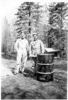 Capt. Lister R. Moore & Capt. Scott T. Childress, Dry Creek, Alaska, May 1943.