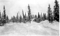 Quonset Hut Barracks, Dry Creek, Alaska, 1943.