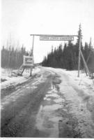 Copper Center Sign, Richardson Highway, Alaska, 1943.