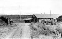 Picture Postcard of 1930s Roadhouse, Richardson Highway, Alaska.