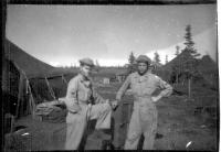 SSgt Yarter & SSgt Hodges, Dry Creek, Alaska, June 1942.