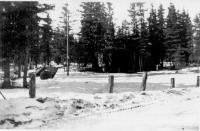 Corps of Engineers Camp center, Dry Creek, Alaska, April 1943.