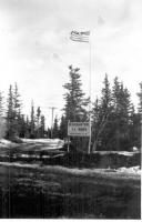 Sign was erected when First Troop Quarters were completed on November 1942.
