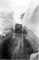 Truck in Thompson Pass near Valdez, Alaska, April 1943.