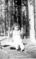 Becky Jean Joy, daughter of Vince Joy, at her Copper Center home, May 1943.