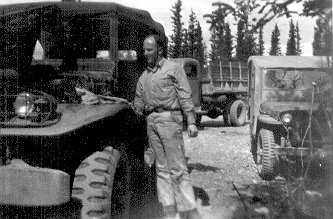 Cpl. Ballieu, Dry Creek, Alaska, May 1943.