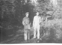 SSsgt Yarter, First Sgt. Kelly, Dry Creek, Alaska, Sept. 1942.
