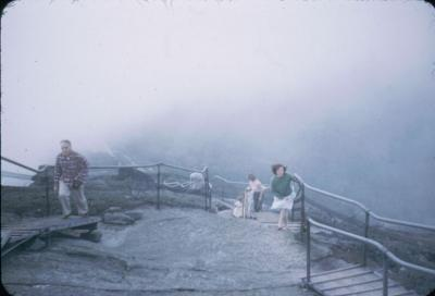 Charlotte near summit of Whiteface Mt. Adirondacks Aug 31, 1952.
