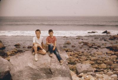 Montauk Pt. Joe and Charlie. Summer 1958.