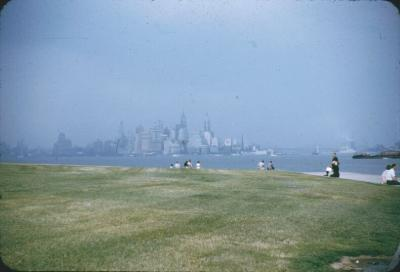 NY City from Statue of Liberty. spring 1959.