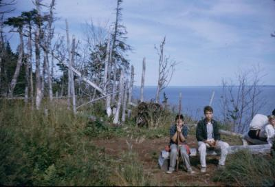 Charlie and Joe. Fundy Natl Park, New Brunswick. Aug 1963.