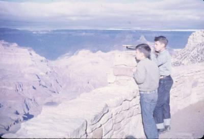 Charlie and Joe at overlook. Grand Canyon, Arizona.