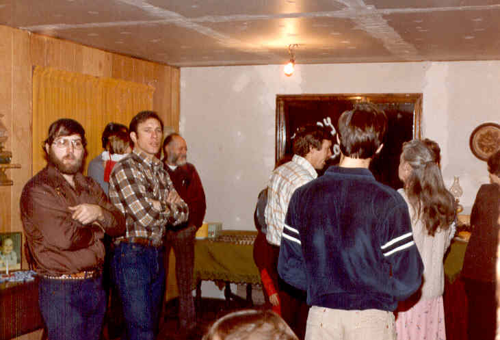 Party, 1982. Visible faces:  R. J. Austin, Dick Ragland, Norman L. Smith.