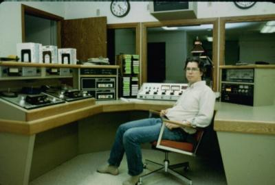 Charlie Perry, Program Technician at KNLS since 1982.