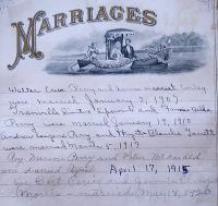 F.M. and Isabella Perry Family Bible: Marriages