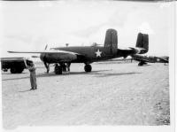 B-25 and P-40 land at Dry Creek 1942